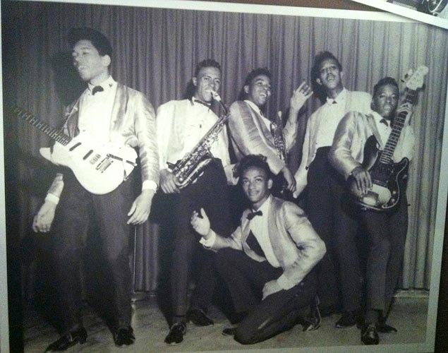 Jimi Hendrix with the Isley Bros