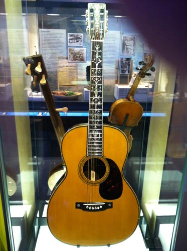 Vintage guitar at the Roots of the American Music Museum on the Blue Ridge Parkway, VA