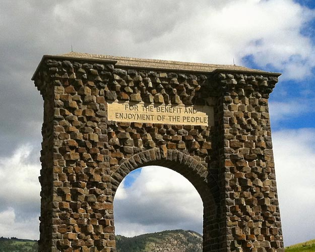 North Entrance to Yellowstone from Montana